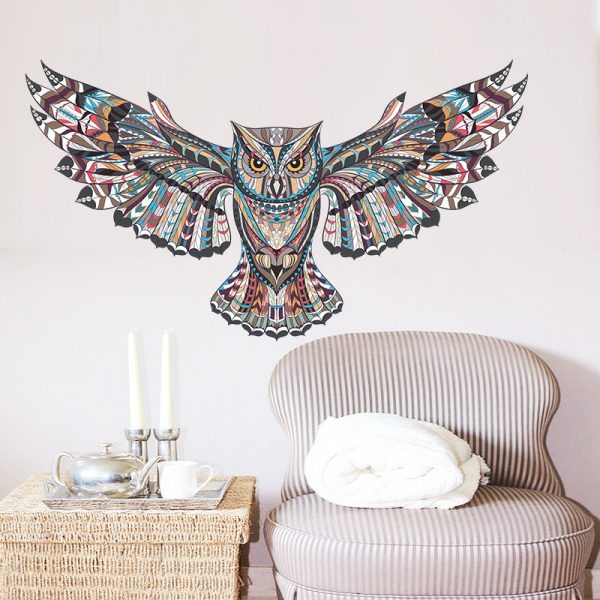 COLORFUL Owl Rooms Decorations Birds Flying Animal Vinyl 2