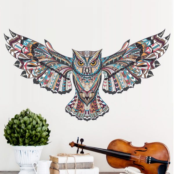 COLORFUL Owl Rooms Decorations Birds Flying Animal Vinyl 1