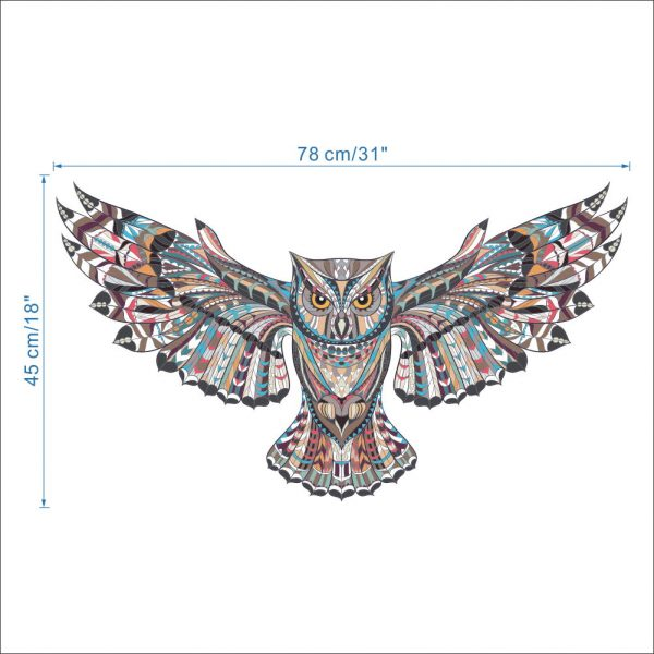 COLORFUL Owl Rooms Decorations Birds Flying Animal Vinyl 6