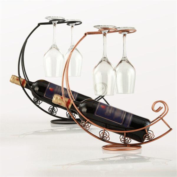 Metal Wine Bottle Champagne Storage Holder Rack Bar Stand 4
