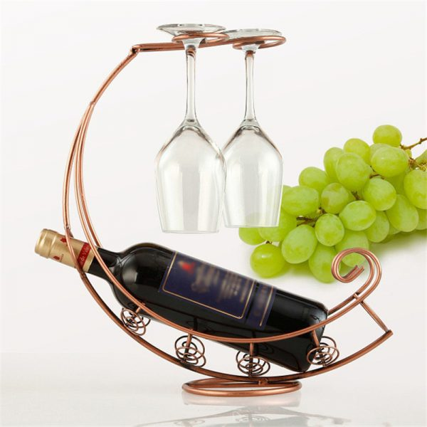 Metal Wine Bottle Champagne Storage Holder Rack Bar Stand 1