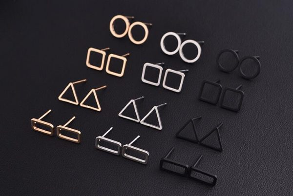 Fashion Punk Simple T Bar Earrings For Women Ear Stud Earrings Jewelry Geometry Girl Accessories 4