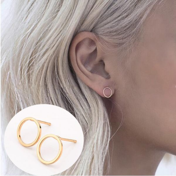 Fashion Punk Simple T Bar Earrings For Women Ear Stud Earrings Jewelry Geometry Girl Accessories 3