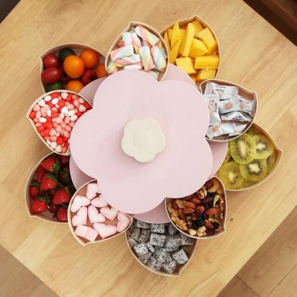 Lotus Snack Holder - Automatic Opening Flower Style 4