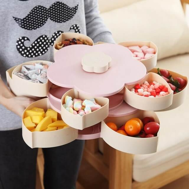 Lotus Snack Holder - Automatic Opening Flower Style 14