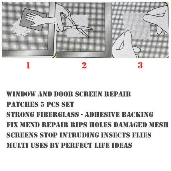 Screen Repair Patch, Door Window Screen Patch Tape 8