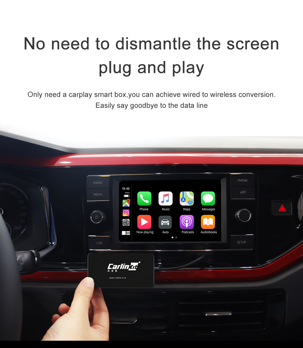 CarPlay adapter to convert wired CarPlay to wireless for original car head unit 11