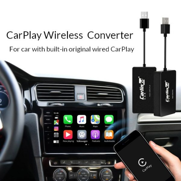CarPlay adapter to convert wired CarPlay to wireless for original car head unit 1
